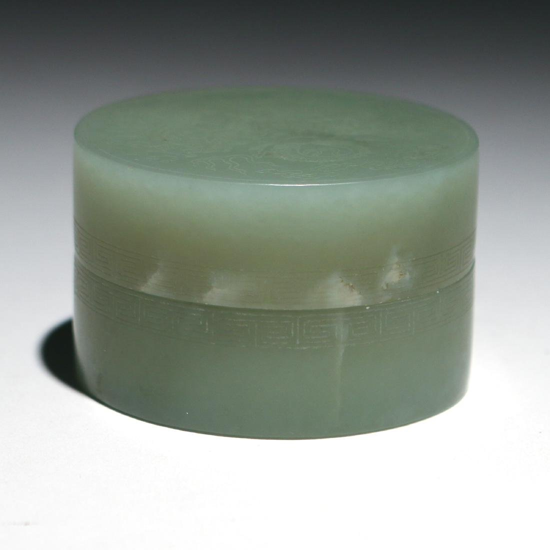(3pc) CHINESE JADE TABLE ITEMS - 6