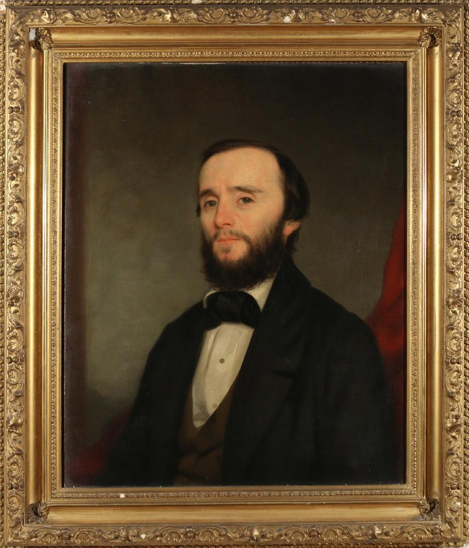 PAIR AMERICAN SCHOOL PORTRAITS, 19th Century - 3