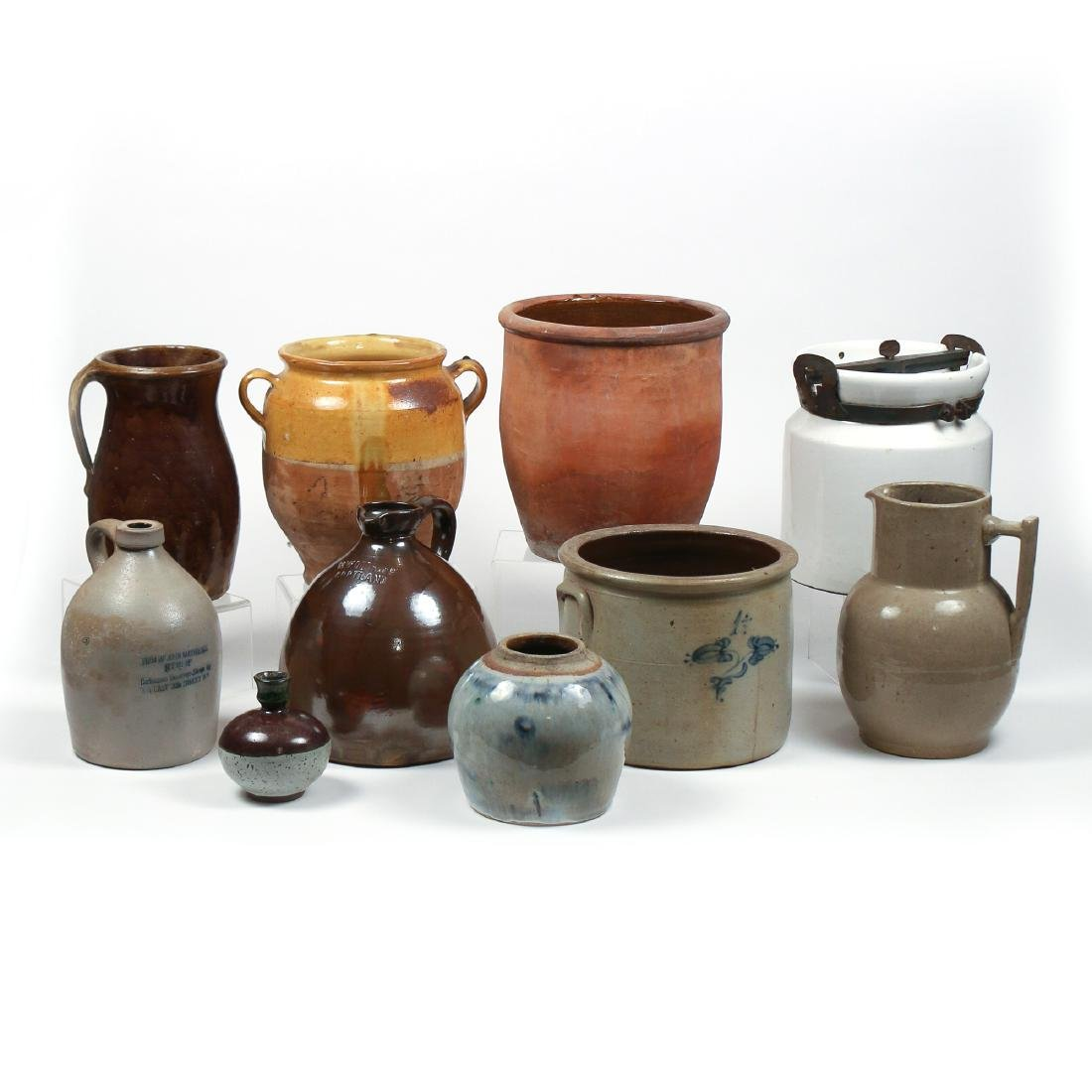 (10pc) MISC. LOT OF AMERICAN STONEWARE
