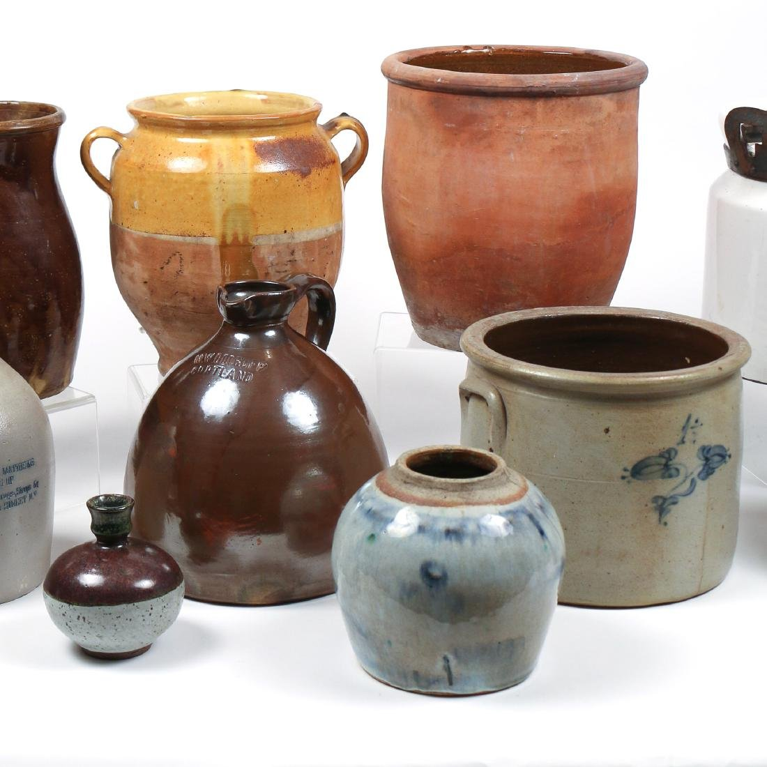 (10pc) MISC. LOT OF AMERICAN STONEWARE - 3