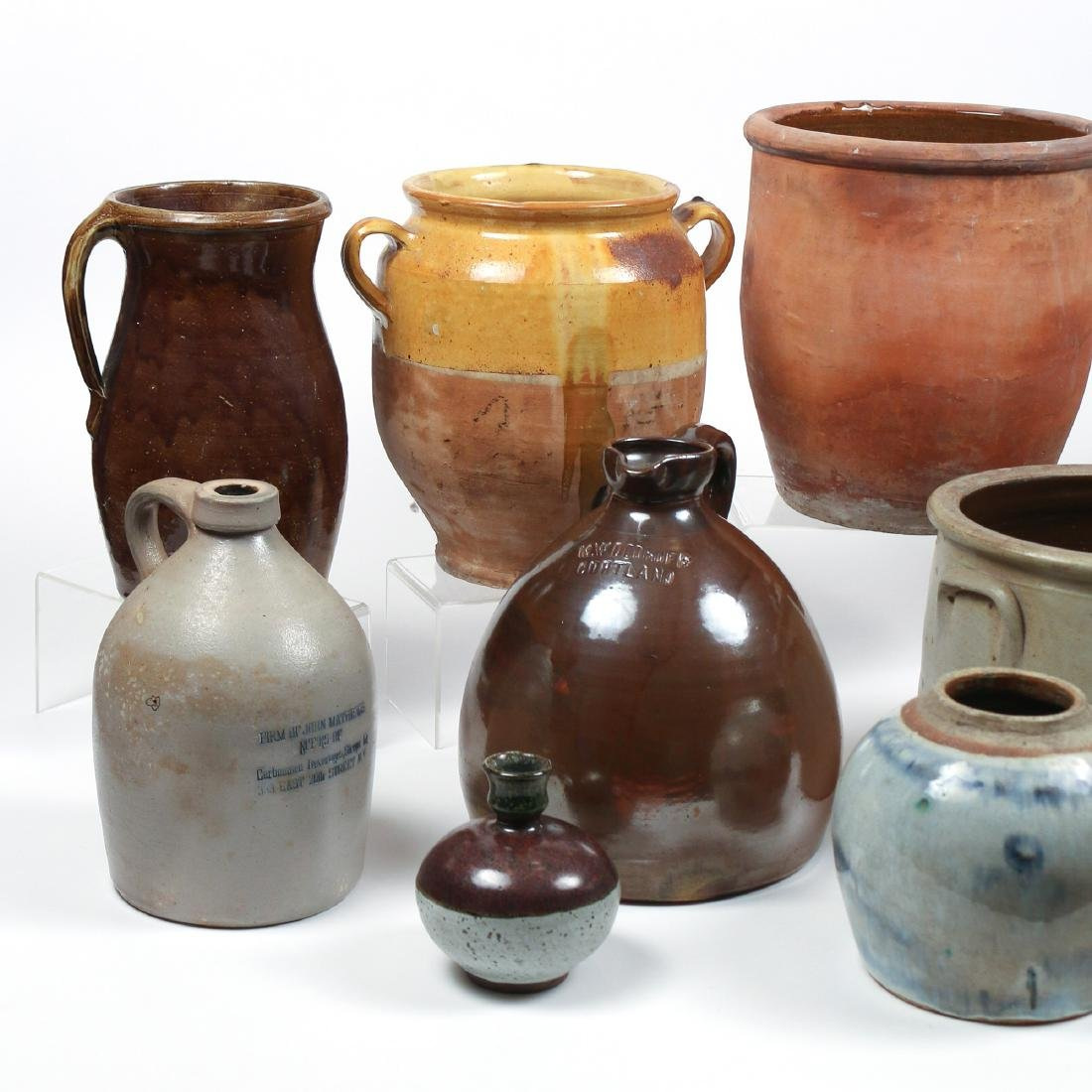 (10pc) MISC. LOT OF AMERICAN STONEWARE - 4