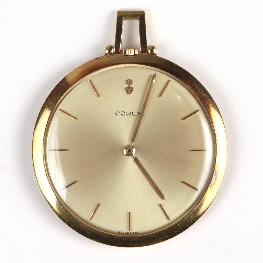 CORUM 18K GOLD POCKETWATCH