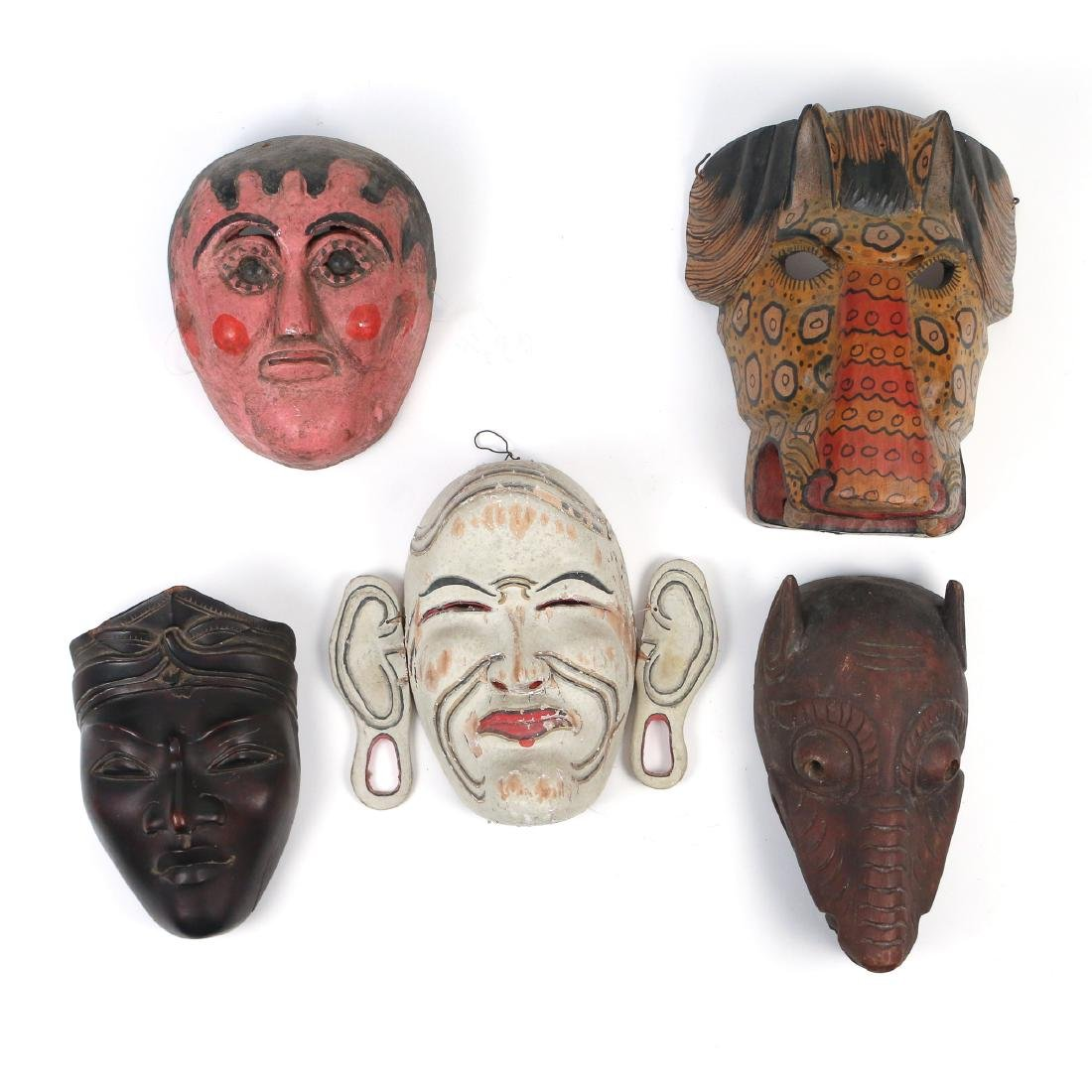 (5pc) TRIBAL & OTHER MASKS