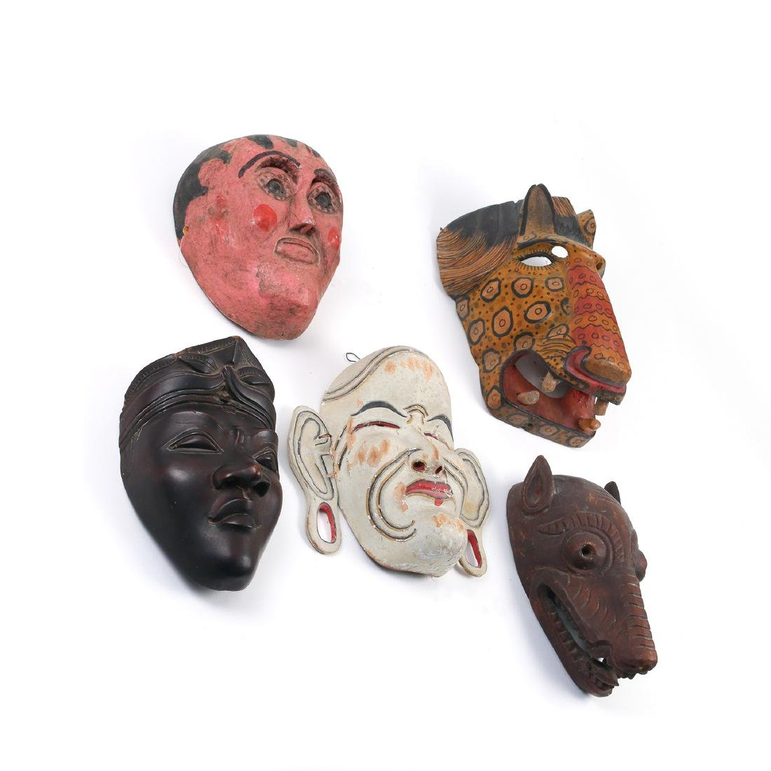 (5pc) TRIBAL & OTHER MASKS - 2
