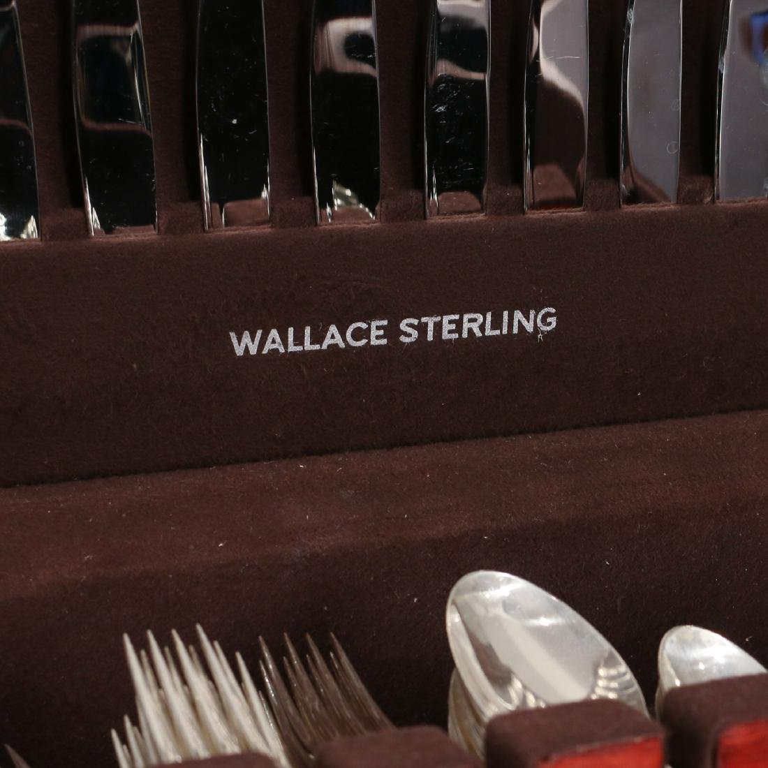(170pc) WALLACE STERLING SILVER FLATWARE SERVICE - 7