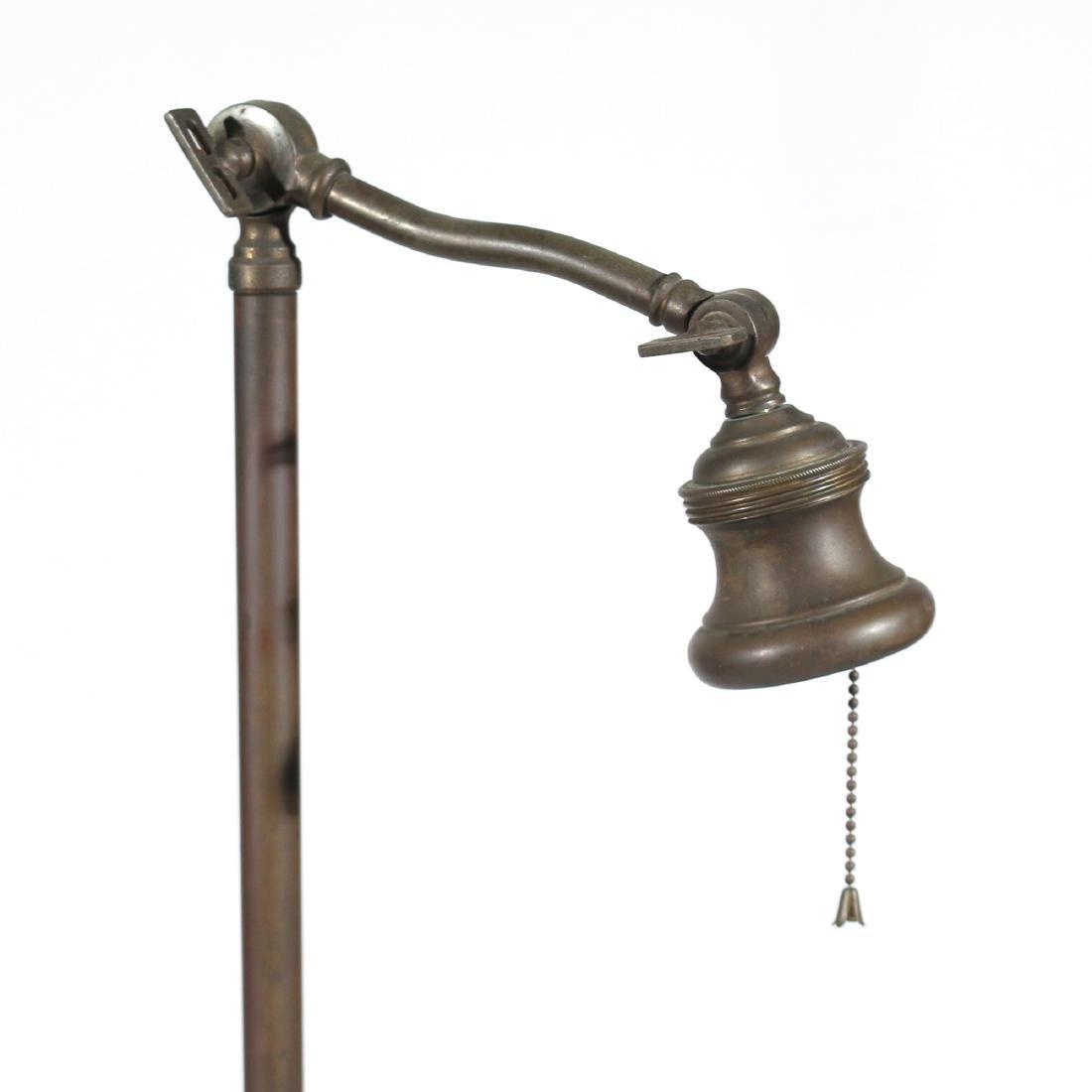 BRASS FLOOR LAMP & GREEN GLASS SHADE - 2
