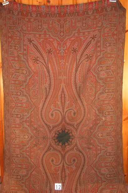 12) e. 20th c. PAISLEY, FEW MINOR STAINS IN BOR