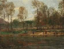 HENRI JOSEPH HARPIGNIES (French, 1819-1916 )