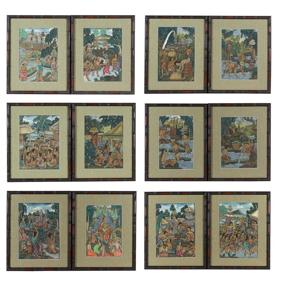 (12pc) I KETUT GEREMBENG (Indonesian, 20th Century)