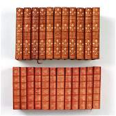23vols TWO SETS OF LEATHERBOUND BOOKS