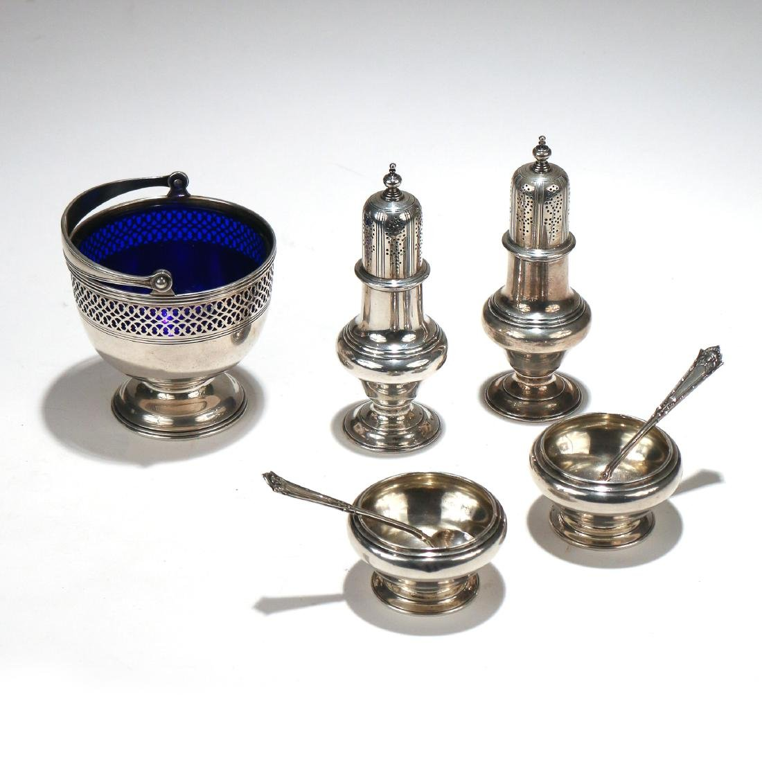 (8pc) STERLING SILVER TABLE ITEMS