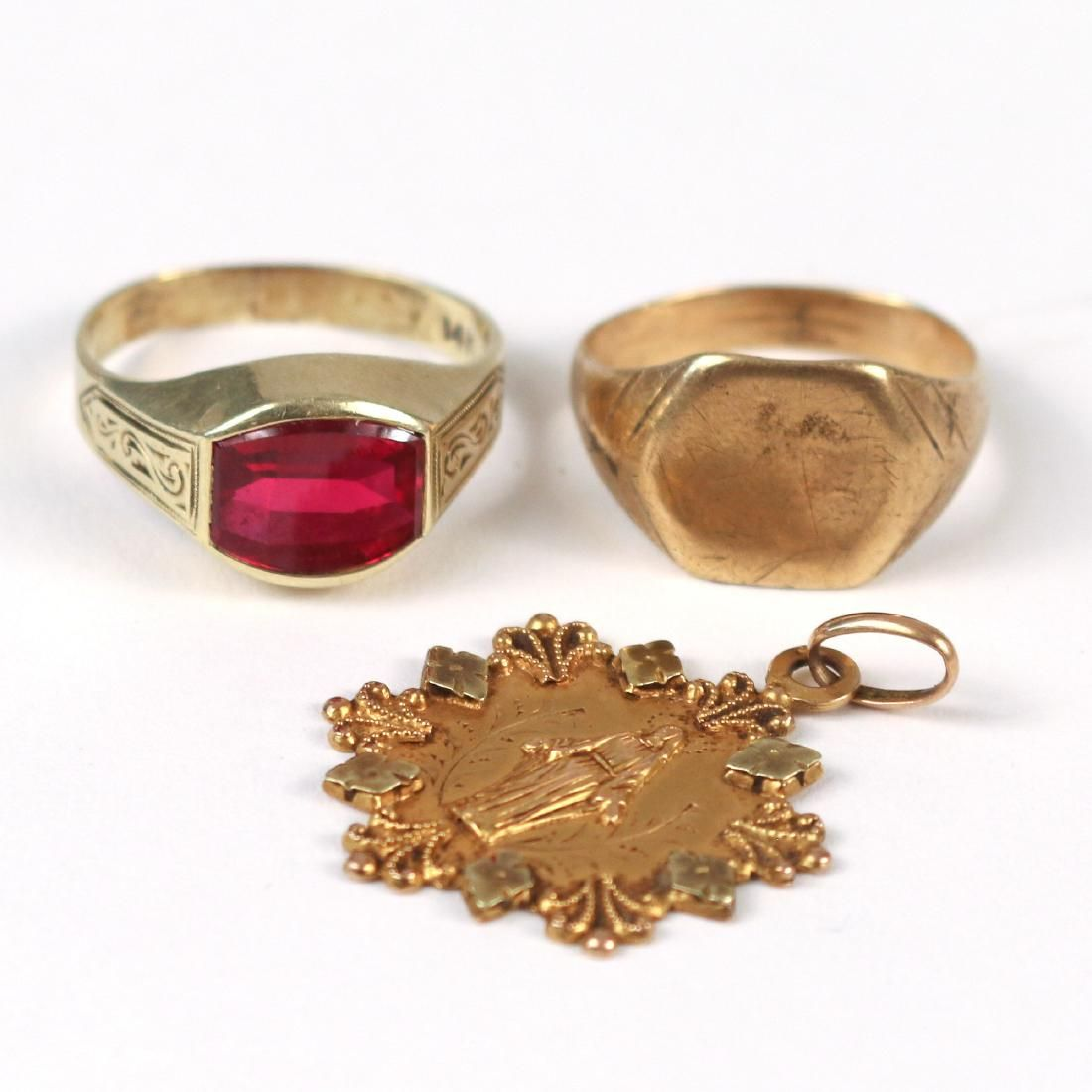 (4pc) MISC. GOLD JEWELRY
