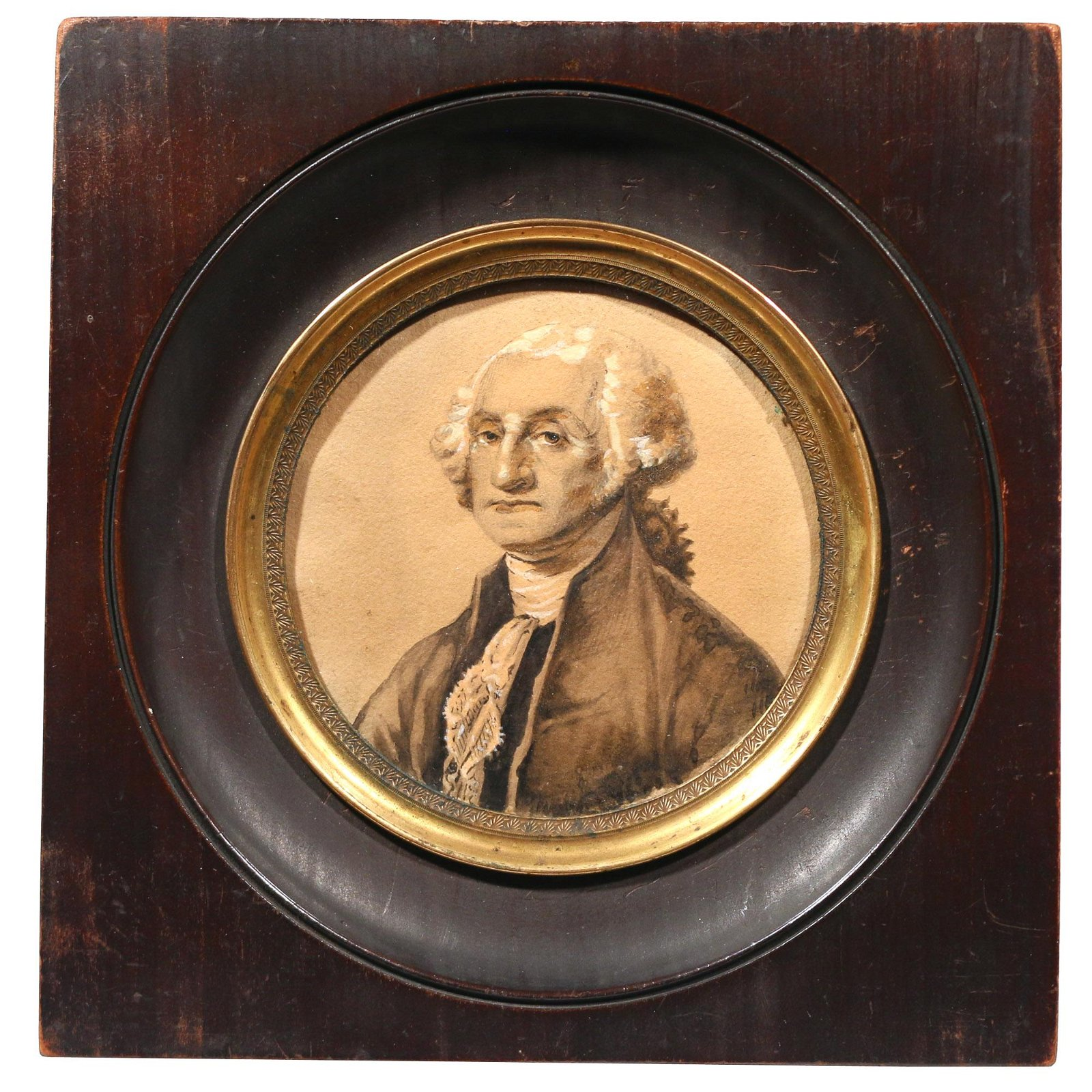 MINIATURE PORTRAIT OF GEORGE WASHINGTON