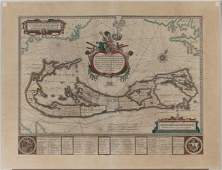 [MAP OF BERMUDA] BLAEU, WILLEM (c. 1630)