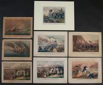 8pc AMERICAN CIVIL WAR LITHOGRAPHS