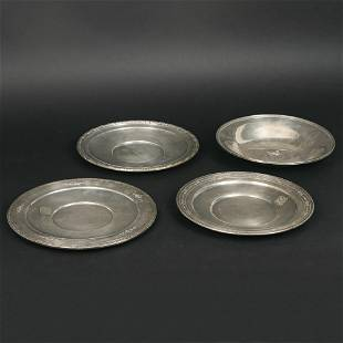 4pc ROUND STERLING TRAYS