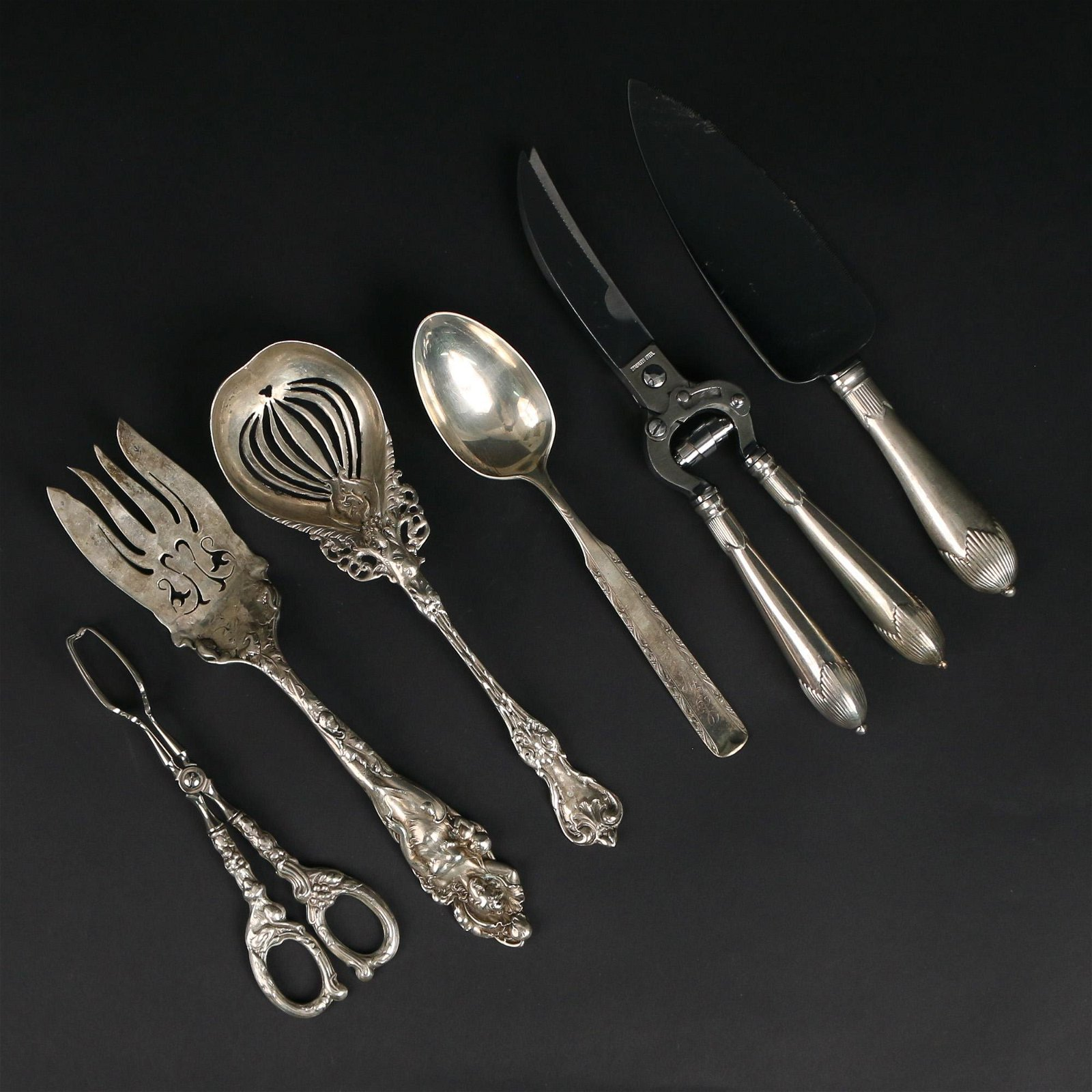 (6pc) MISC. STERLING SERVING PIECES
