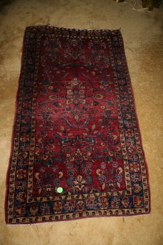 2: SAROUK RUG, OVERALL PATTERN - TYPICAL 1920'S; 1