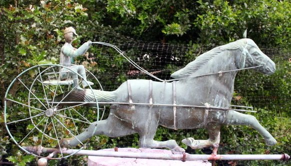 220: EARLY 20TH C. HORSE & SULKY WEATHERVANE