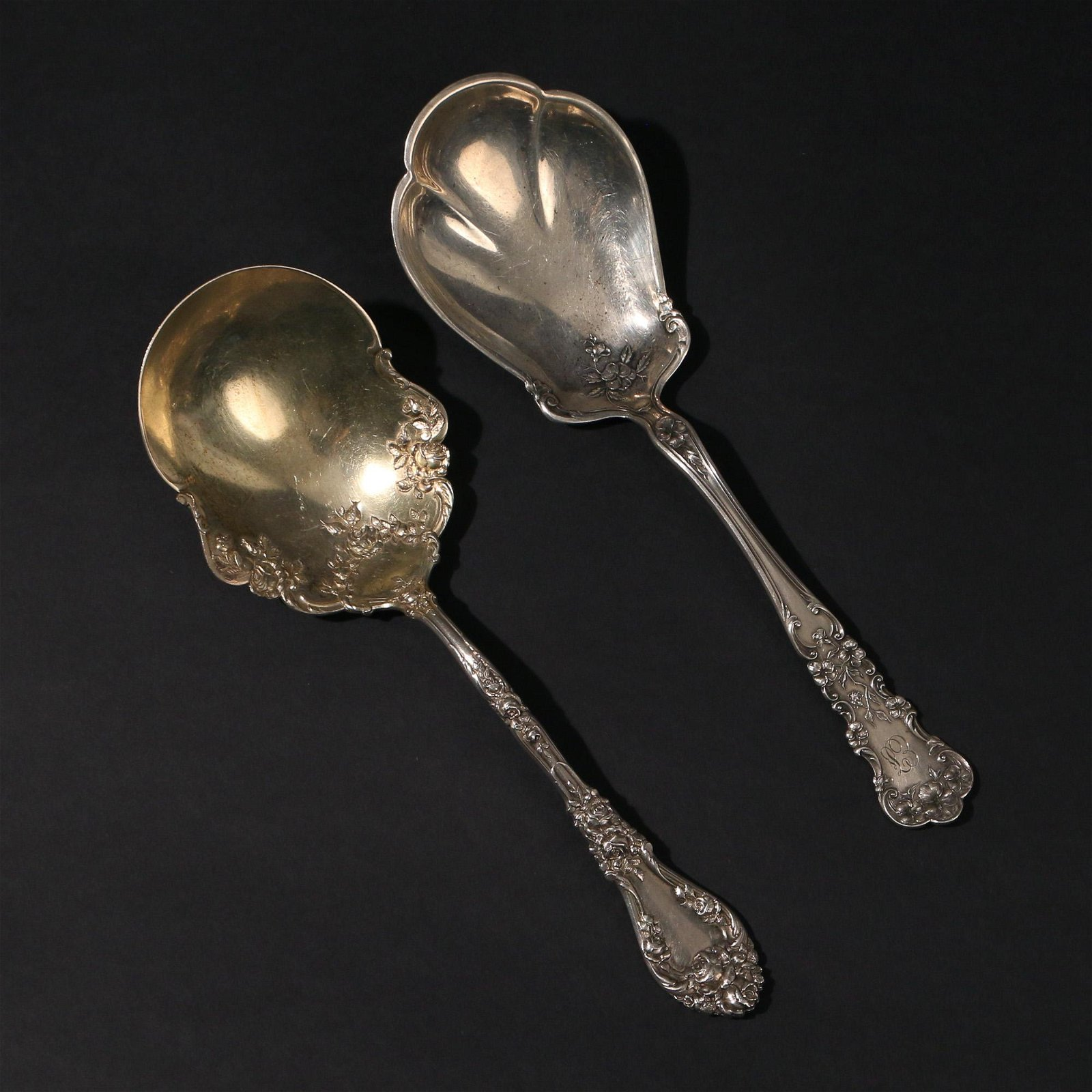 (2pc) MISC. STERLING SERVING SPOONS