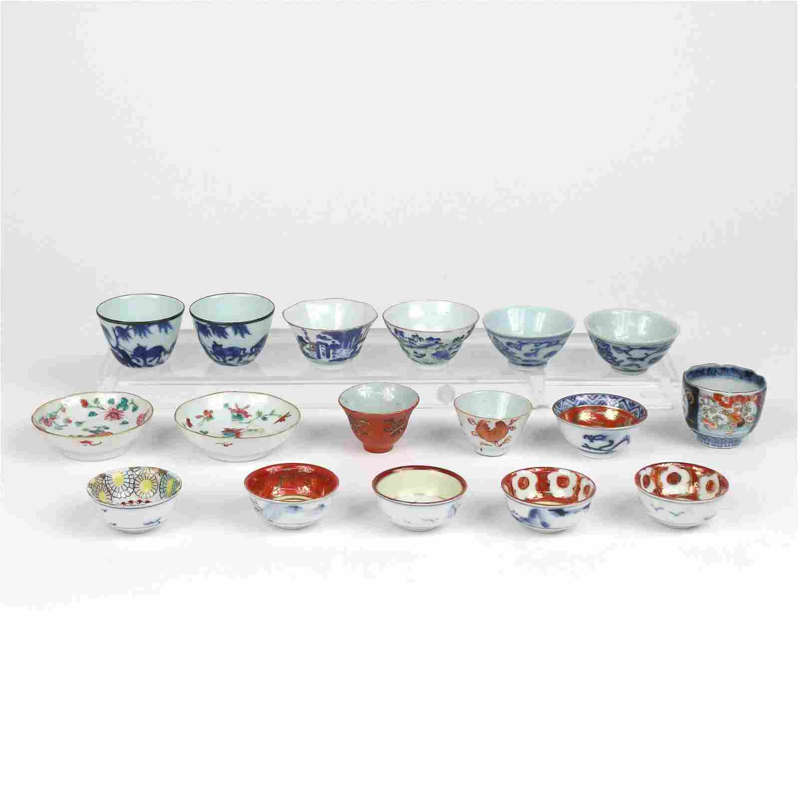 (17pc) GROUP OF MISC. SAKE CUPS