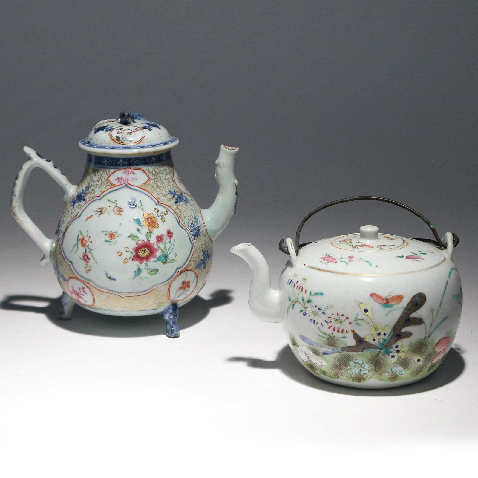 (2pc) CHINESE TEAPOTS