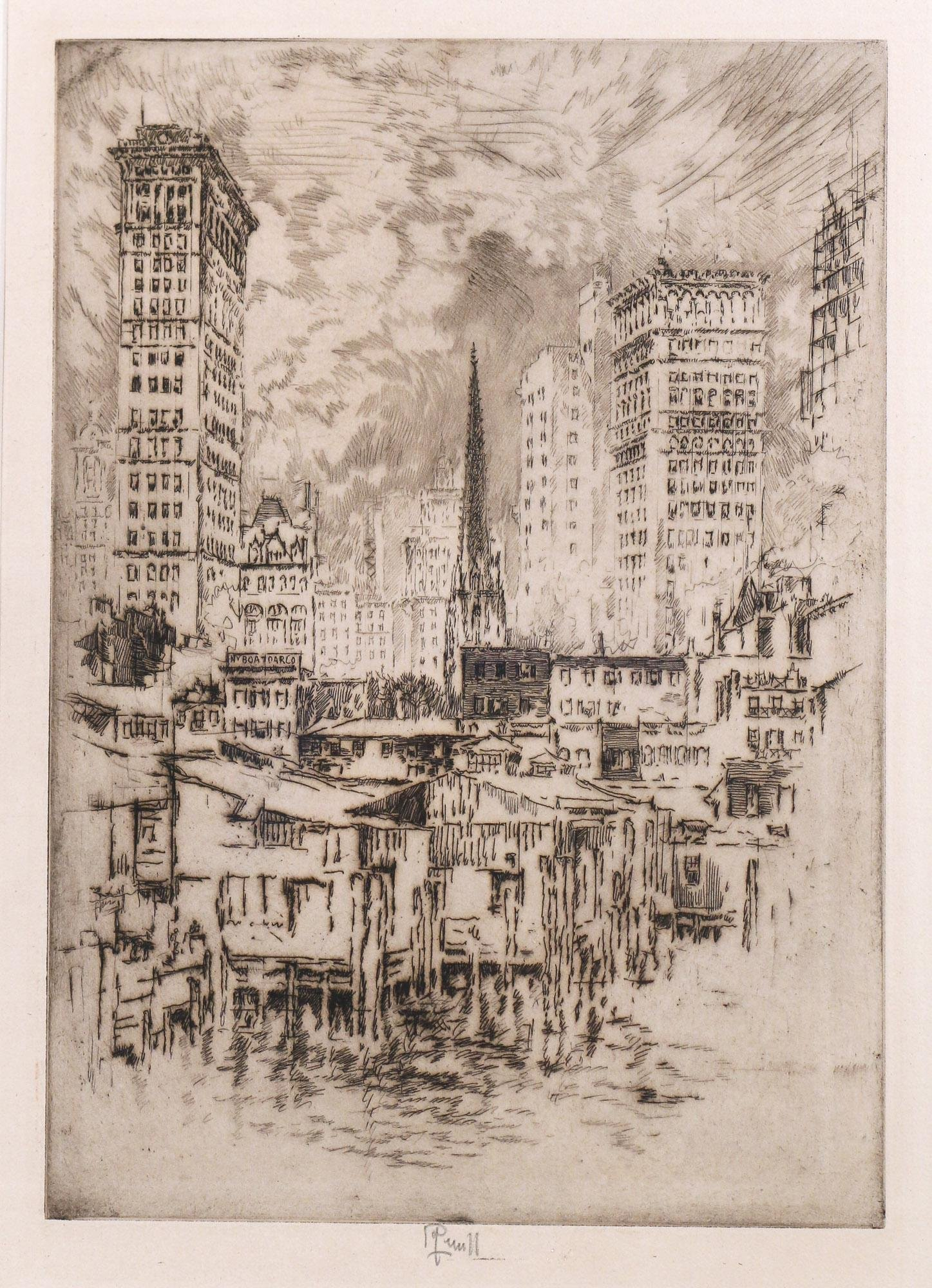 JOSEPH PENNELL (American, 1857-1926) ETCHING