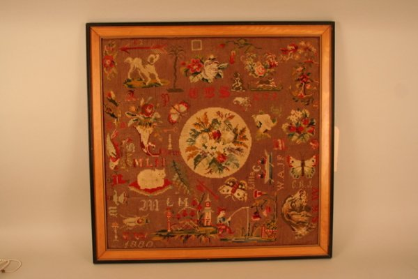 1: FORK ART NEEDLEPOINT EMBROIDERY, PROBABLY BY NUMEROU