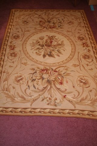 7: MID 20TH C. FRENCH AUBUSSON NEEDLEPOINT RUG/WALL