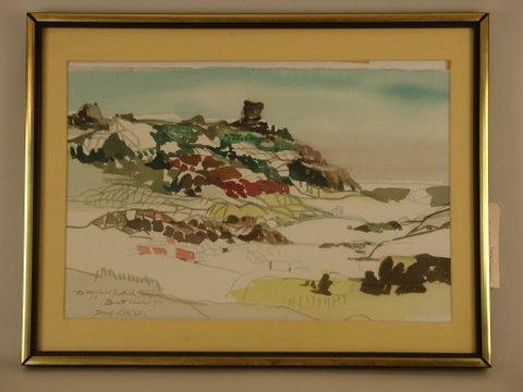 8: DONG M KINGMAN, NA, (AMER. 1911-2000 W/C, SEASCAPE,