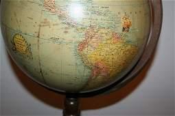 729: TERRESTRIAL GLOBE ON STAND RAND-McNALLY