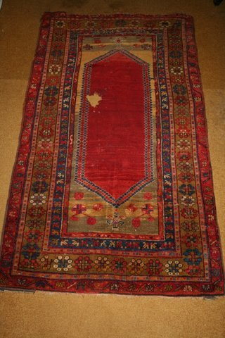 4: 19TH C. TURKISH PRAYER RUG
