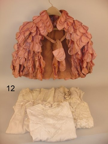 12) LOT 7 LADIES VINTAGE BLOUSES & TAFFETA CAPE