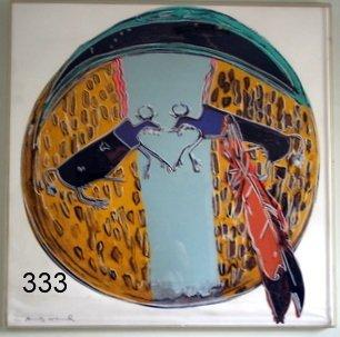 "333) ANDY WARHOL SILKSCREEN PRINT, ""PLAINS INDIAN"""