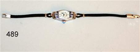 489 14KWG LADIES BULOVA WRISTWATCH WSM DIAMONDS