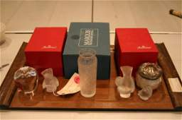 573) LOT CRYSTAL INC BACCARAT, WATERFORD & LALIQUE