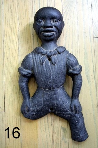 16)  19TH C.   CAST IRON FIGURAL ORNAMENT, BLACK CHILD