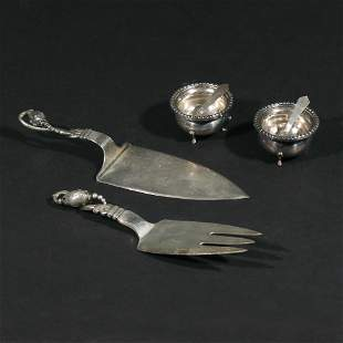 (6pc) MISC. STERLING SILVER SERVING ITEMS