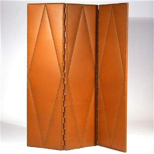 J. ABBOUD BESPOKE LEATHER FLOOR SCREEN