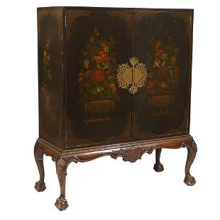 LATE 19th/EARLY 20th C. CHINESE CABINET ON STAND