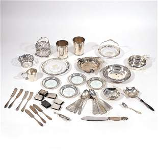 (43pc) MISC. STERLING HOLLOWARE & FLATWARE