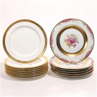 (14pc) TIFFANY & ROSENTHAL PLATES