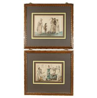 (2pc) EARLY 19th CENTURY WATERCOLORS