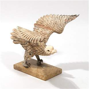 CHINESE CARVED FIGURE OF AN EAGLE