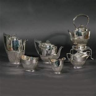 (6pc) EDWARD VINER STERLING SILVER TEA/COFFEE SET