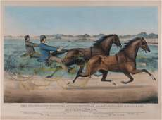 CURRIER & IVES [PUBLISHERS]: TROTTING STALLIONS