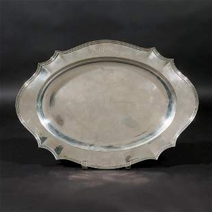 REED & BARTON STERLING SILVER OVAL TRAY