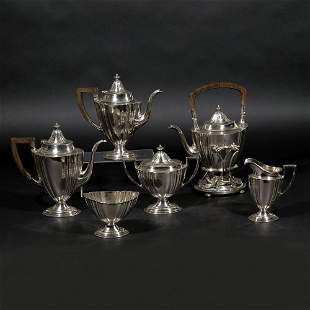 (6pc) THEODORE B. STARR STERLING SILVER COFFEE SET