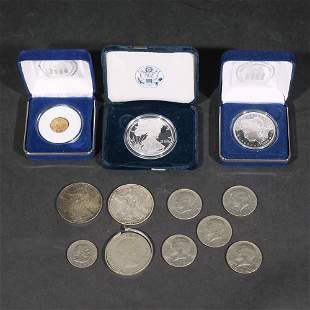(12pc) MISC. GOLD & SILVER U.S. COINS