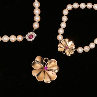 (3pc) PEARL NECKLACES & OTHER